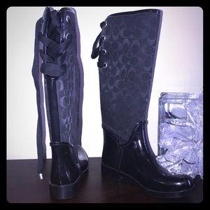 Black COACH boots